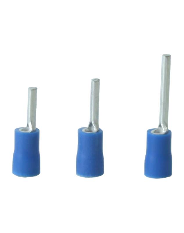 Terminales de pin de crimpado simple con aislamiento de vinilo